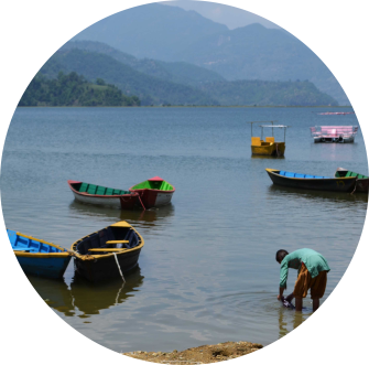 FINDING SOME PEACE IN POKHARA