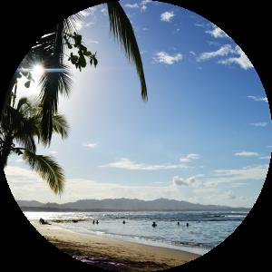 Costarican beach in Puerto Viejo in photos